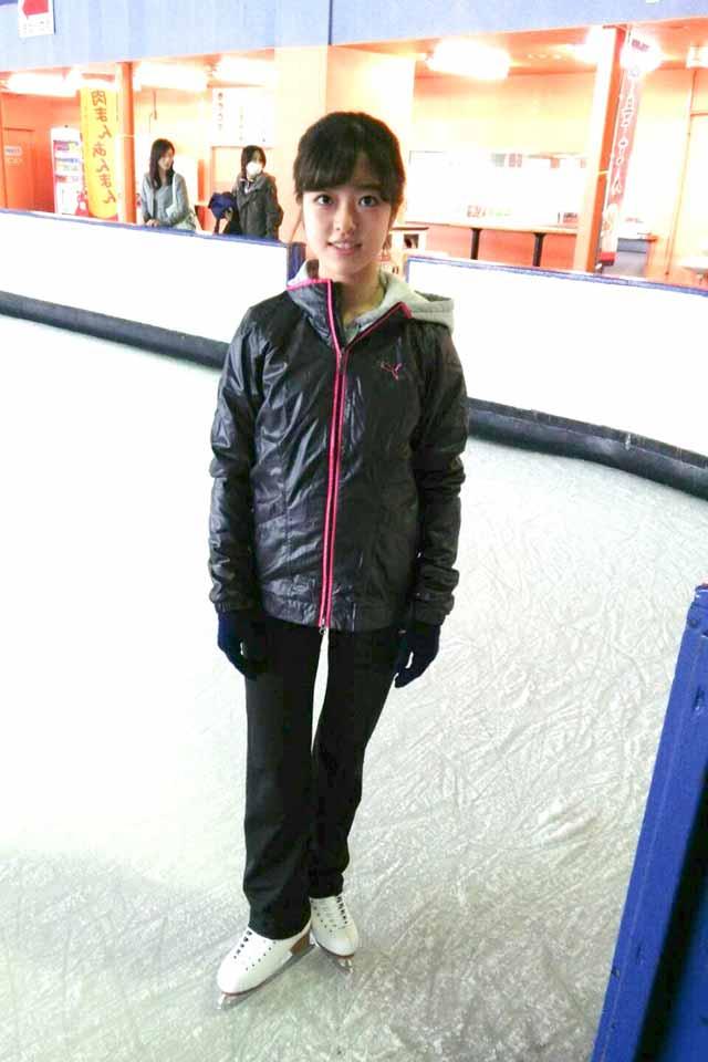 スケートリンク上の青野紗采