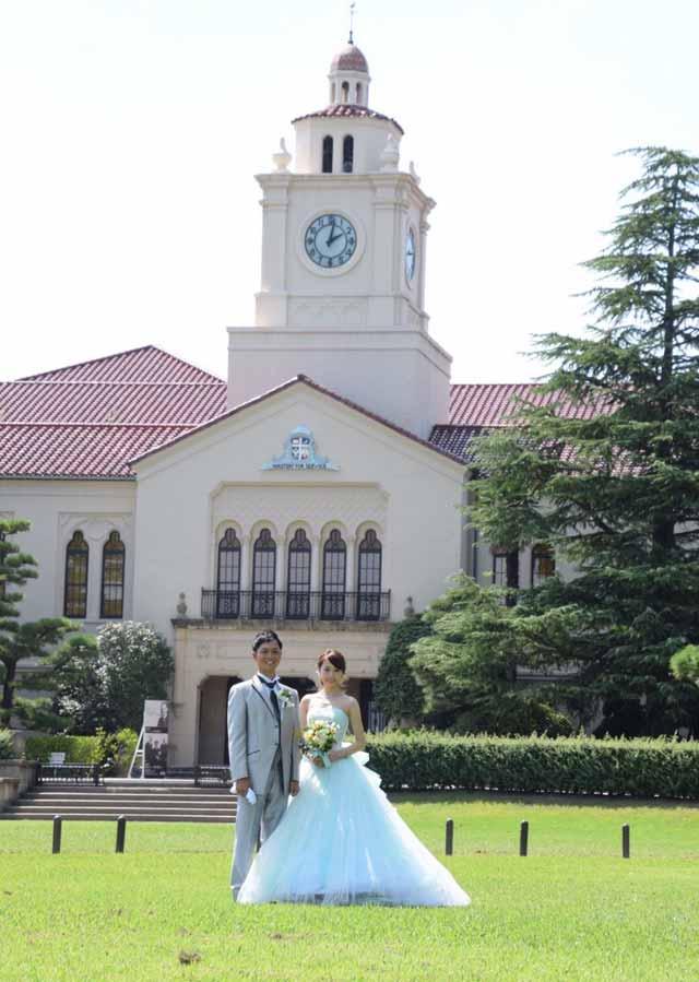 大谷舞風模擬結婚式中