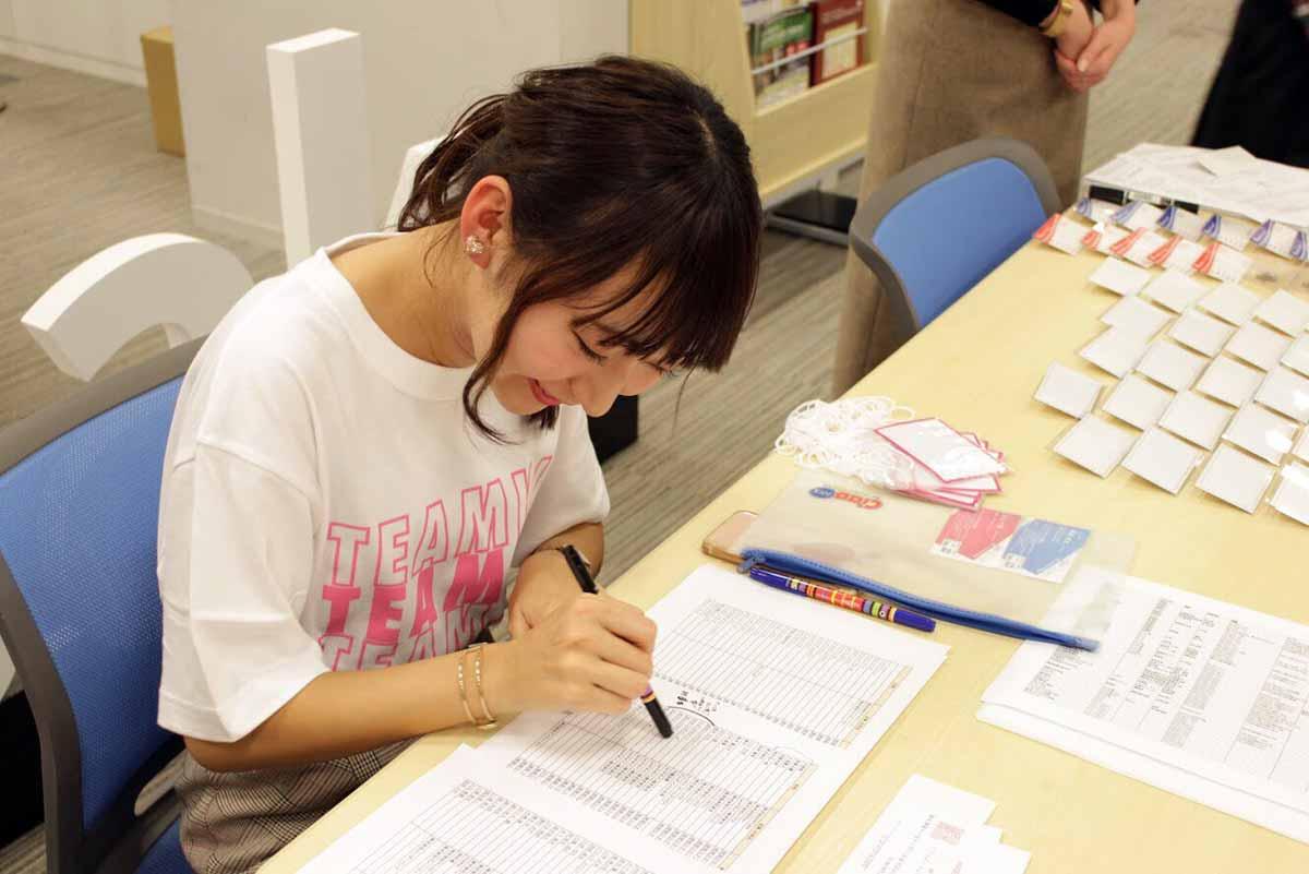 TeamKJ活動中の中野幸乃