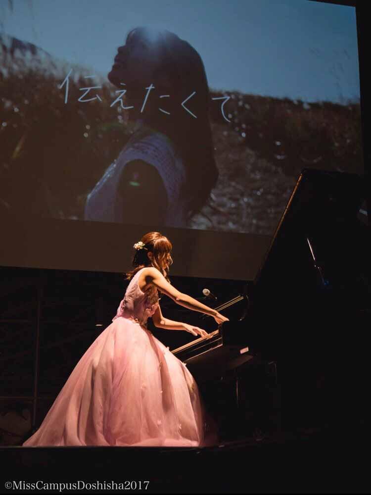 杉浦みずきピアノ披露
