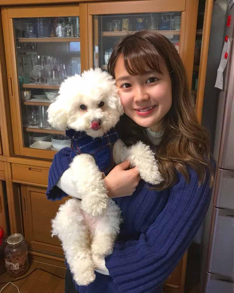 森山里奈子と愛犬